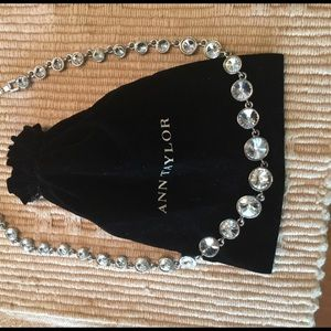 Ann Taylor large crystal statement necklace
